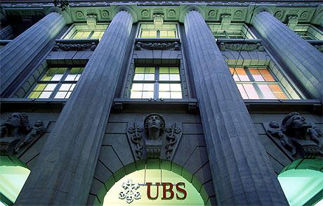 Fachada de la sede de UBS, principal banco suizo. | Martin Ruetschi. EPA