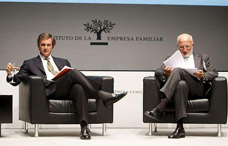 Los presidentes de Mercadona, Juan Roig (d) y Acciona, José Manuel Entrecanales. | Efe