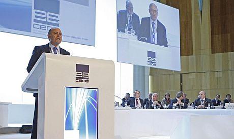 El presidente de la patronal, Gerardo Díaz Ferrán. | Efe
