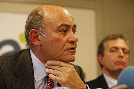 El presidente de Air Comet, Gerardo Díaz Ferrán, durante su comparecencia ante los medios. | Segio González