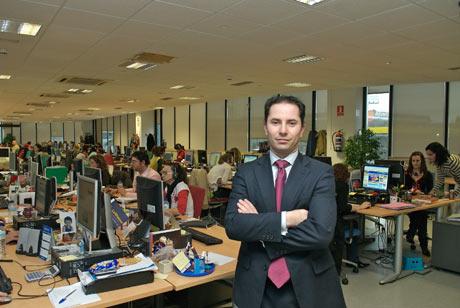 José Rivera en las oficinas de Rumbo.com en Madrid. | Rumbo.com