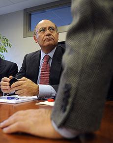 Gerardo Díaz Ferrán, durante una rueda de prensa. | Afp