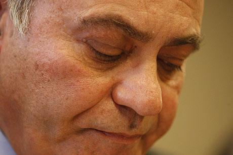 El presidente de la patronal, en una comparecencia ante la prensa. | Sergio González.