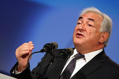 Dominique Strauss-Kahn, director gerente del FMI.   Afp