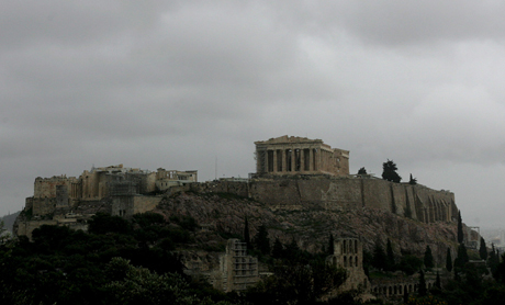 Tormenta en la Acrópolis de Atenas. | Efe