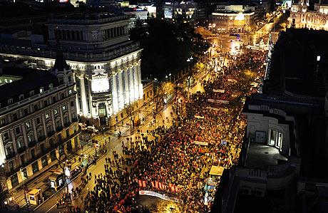 Vista de la manifestación de Madrid contra el 'pensionazo'. | Bernardo Díaz