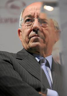 El gobernador del Banco de España, Miguel Ángel Fernández Ordóñez.   José Cuéllar