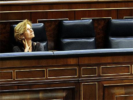 Salgado, durante una sesión en el congreso. | Bernardo Díaz