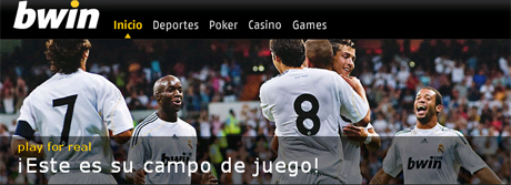 BWin es una de las páginas de apuestas más conocidas y patrocina el Real Madrid.