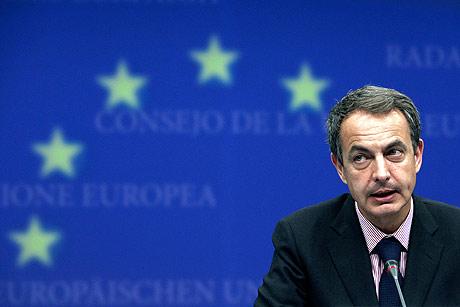Zapatero, ayer en el Consejo Europeo. | Ap