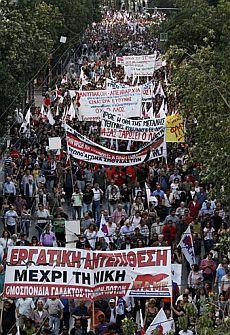 Protesta en Atenas. | AP