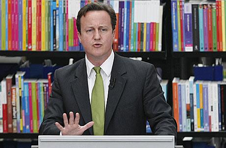 El primer ministro británio, David Cameron, durante su discurso.   AP