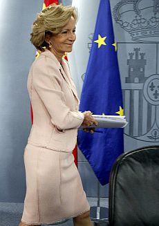 La vicepresidenta segunda del Gobierno, Elena Salgado. | Efe