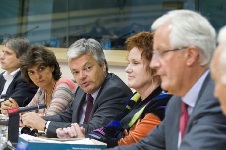 Momento de la reunión.   Parlamento Europeo