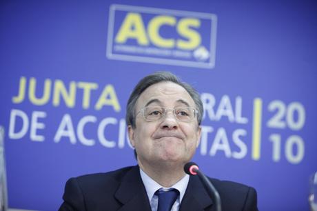 El presidente de ACS, Florentino Pérez. | Antonio M. Xoubanova