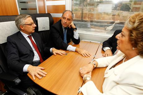 José Blanco (I), Rita Barbera y Francisco Camps.   Alberto Cuellar