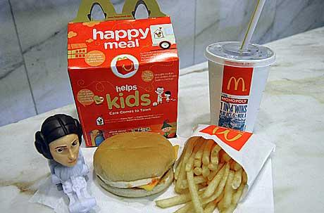 Un menú Happy Meal de la cadena estadounidense | Karen Bleier