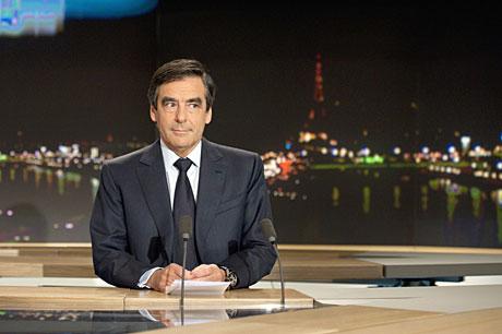Fillon, en TF1.   AFP