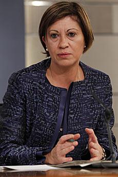 Elena Espinosa, en un acto cuando era ministra de Medio Ambiente, Rural y Marino. | Begoña Rivas