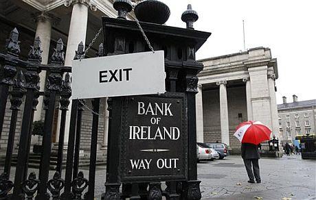 Imagen del Banco de Irlanda. | AP