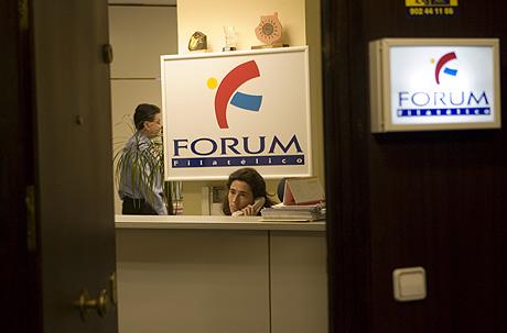 Una de las oficinas de Forum Filátelico.   Miguel Calvo