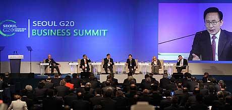 Sesión inaugural del G-20 en Seúl. | Efe