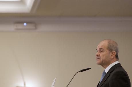 El vicepresidente tercero, Manuel Chaves, en los desayunos organizados por Europa Press.