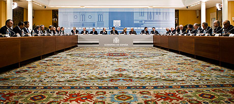 Imagen de la reunión entre presidente y empresarios. | Ap