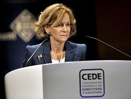 La vicepresidenta segunda del Gobierno y ministra de Economía, Elena Salgado. | Efe