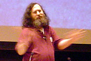 Richard Matthew Stallman en acción...