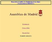 La página 'web' de la Asamblea de Madrid tiene un diseño un tanto obsoleto.