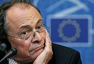 El ex primer ministro francés y eurodiputado Michel Rocard en el Parlamento Europeo en Estrasburgo. (EFE)