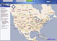 Captura de la página 'web' del servicio cartográfico de Microsoft