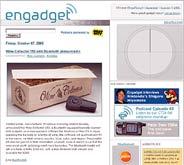 Captura de Engadget, uno de los 'blogs' más importante de Weblogs Inc.