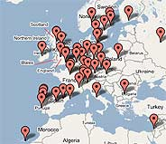 El evento se celebrara en 35 países de todo el mundo, entre ellos España. (Imagen: Google Maps. Captura de worldusabilityday.org)