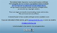 Anuncio del cierre del servicio en la página 'web' de Grokster