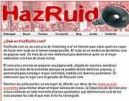 Captura de la página de inicio de HazRuido.com