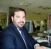 Pedro Farré, durante el encuentro. (Foto: elmundo.es)