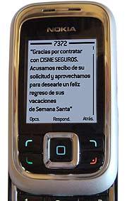 El mensaje de respuesta como contrato del seguro. (Foto: C.S.)