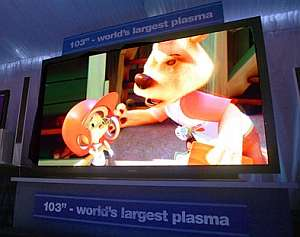 La pantalla de plasma más grande del mundo, de 103 pulgadas, según Panasonic. (Foto: AP)