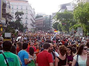 Jóvenes se manifiestan en Madrid por una vivienda digna. (Foto: S. R.)
