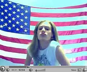 Pantalla de uno de los vídeos de Brooke en YouTube.