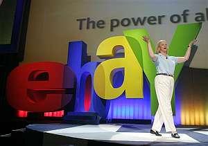 Meg Whitman, presidenta de eBay, en la conferencia en Las Vegas. (Foto: AP)
