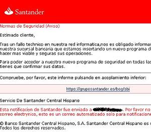 Ejemplo de correo electrónico de 'phishing'. (Foto: AI)