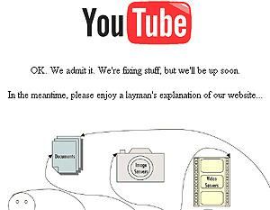 Imagen que mostraba YouTube durante las seis horas en que no funcionó.