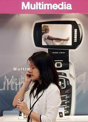 Imagen de uno de los expositores en la feria de Samsung sobre 4G. (Foto: 4G)