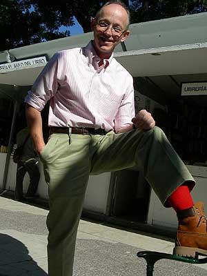 Los famosos calcetines rojos de Bob Young. (Foto: P. R.)