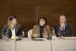 La presidenta de Microsoft Ibérica, Rosa María García, durante la presentación. (Foto: Microsoft)
