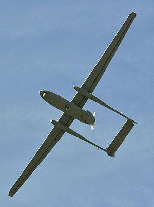 El Heron, en pleno vuelo de demostración. (Foto: REUTERS)
