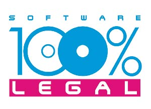 Logo de la campaña, que también será el 'sello' para los distribuidores de 'software' legal.